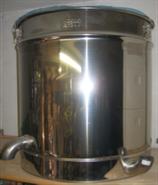 Dampfwachsschmelzer, rund, aus Edelstahl