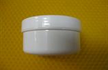 Cremetiegel aus Kunststoff, weiß, 50g/65ml