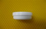 Cremetiegel aus Kunststoff, weiß, flach, 10g/12ml