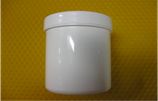 Cremetiegel aus Kunststoff, weiß, 100g/125ml