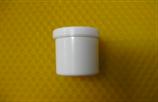 Cremetiegel aus Kunststoff, weiß, hoch,  10g/12ml