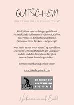 Gutschein Bike & Brunch für 2 Personen im Wert von € 100,-