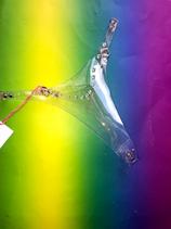 PVC transparent studded thong