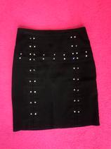 Vintage Jet black strass pencil skirt