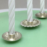 Look at cake candle decorating in sterling silver.