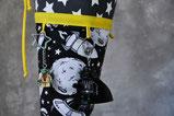 """Bild: """"Lego Star Wars"""" Figuren an Galaxie Stoffschultüte von AnfängerGlück"""