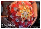 femme enceinte ventre belly painting solenn minier  fleur de vie