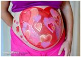 femme enceinte ventre belly painting solenn minier  coeur