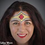 solenn minier maquilleuse professionnelle face painting maquillage wonder woman infirmière nurse rennes bretagne