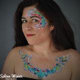 solenn minier maquilleuse professionnelle face painting maquillage étoiles stars décolleté cleavage trennes bretagne