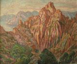 Calanques de Piana - Corse 1936 38x46 huile sur toile André Aaron Blils