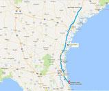 Strecke: Tag 5 (Google Maps)