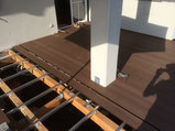 Bambus BPC Deck WPC Terrassendielen Nuss Alu Unterkonstruktion