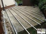 BPC WPC Terrasse Aluminium Unterkonstruktion Alu UK auf Beton