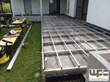 BPC WPC Aluminium Unterkonstruktion Alu UK auf Beton Höhe 19cm