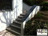 WPC Treppe Stufen WPC Terrassendiele Anthrazit grau