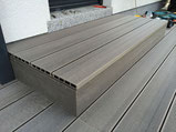 Bambus WPC Anthrazit Terrasse Podest ohne Randwinkel