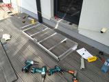 Bambus WPC Anthrazit Terrasse Podest Aluminium Unterkonstruktion