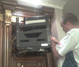 Монтаж оборудования в шкаф