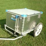 Fahrradanhaenger mit Alubox selbst gebaut