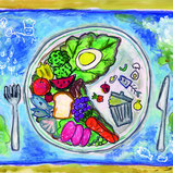 children's art-food waste-fgpe