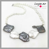 perla plata joya joyería regalo compras perlas negras cultivadas collar luymar