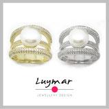 perla plata joya joyería regalo compras perlas cultivadas sortija luymar