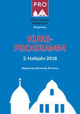 Titelbild Programmheft 2.HJ 2018
