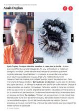 art textile anais duplan