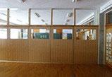 夕寺学校教室の 間仕切り設置
