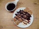 Buchweizencrepe glutenfrei Schokoladensoße