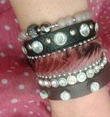 armbänder aus leder, perlen und fell