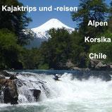 Kajaktrips und Kajakreisen mit Anne Hübner, zum Beispiel in die Alpen, nach Korsika, Chile oder Griechenland!