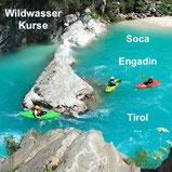 Wildwasserkurse mit Anne Hübner an der Soca, im Engadin, in Tirol oder an deinem Wunschort!