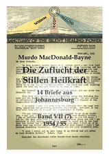 Die Zuflucht der Stillen Heilkraft, 14 Briefe aus den Jahren 1954/55
