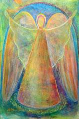 """Engel, Seite 12,  im Buch """"Meine liebsten Engelbilder"""" von Annelie Staudt"""