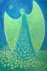 """Der Engel von Seite 9  im Buch """"Meine liebsten Engelbilder"""" von Annelie Staudt"""