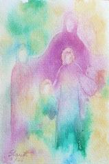 """Engel, Seite 19,  im Buch """"Meine liebsten Engelbilder"""" von Annelie Staudt"""
