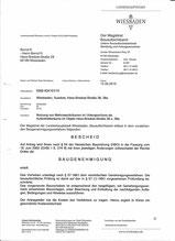 Baugenehmigung Seite 1