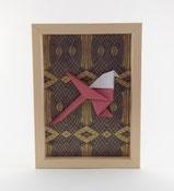 Cadre origami Mésange - Format 15x21cm - 29€