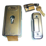 VIRO electric lock with horizontal latch + cylinder for AKIA France System's wheeled motor drive