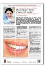 Merkblatt Bleaching Zahnarzt Frankfurt-Niederrad
