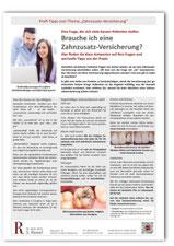 Merkblatt Zahnzusatzversicherung