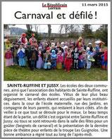 Défilé carnavalesque et spectacle avec Les Guignolos - Carnaval des enfants à JUSSY et SAINTE-RUFFINE (57130)