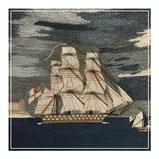 Folk art sailors woolwork or woolie