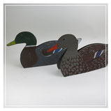 Pair of American tin decoy ducks