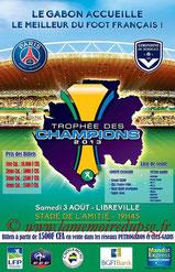 Affiche  PSG-Bordeaux  2013-14 (Trophée des Champions à Libreville)