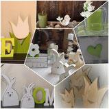 upcycling, Osterhase,  Holz, Blume, Tulpe, Frühling, Ostern