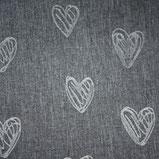 Herzen Grau
