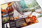 【パンフレット×ホテル】 ホテルの上品なイメージを伝えるため、写真を大きく使ったレイアウトに。